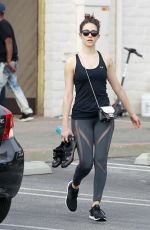 EMMY ROSSUM Leaves Soulcycle Gym in Brentwood 05/23/2018