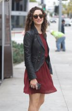 EMMY ROSSUM Out for Lunch at Zinque in West Hollywood 04/30/2018