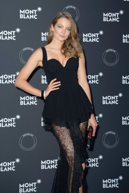 ENIKO MIHALIK at Montblanc Dinner at Cannes Film Festival 05/16/2018