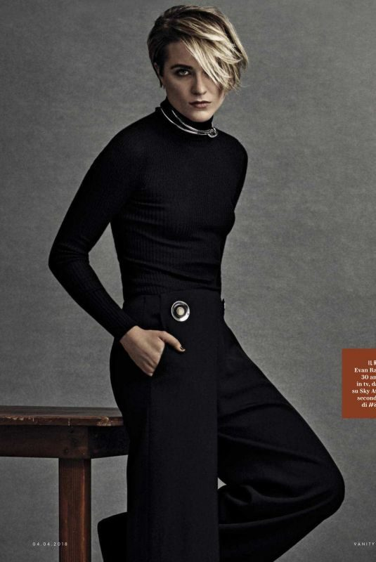 EVAN RACHEL WOOD in Vanity Fair Magazine, Italy April 2018