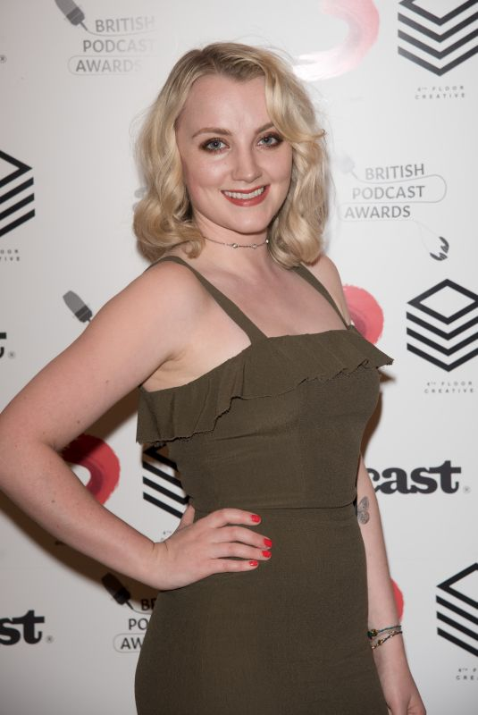 EVANNA LYNCH at British Podcast Awards in London 05/19/2018