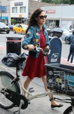 FAMKE JANSSEN Out and About in New York 05/28/2018