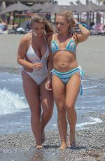 GABBY ALLEN and TYNE-LEXY CLARSON in Bikinis at a Beach in Marbella 05/28/2018