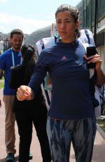GARBINE MUGURUZA Arrives at Roland Garros in Paris 05/30/2018