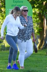 GEMMA COLLINS, CHLOE SIMS and GEORGIA KOUSOULOU on the Set of TOWIE in Brentwood 05/15/2018