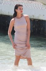 GEORGIA FOWLER on the Set of a Photoshoot in Cannes 05/18/2018