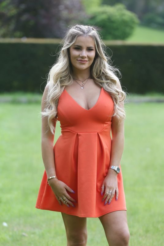 GEORGIA KOUSOULOU on the Set of The Only Way is Essex at Colchester Castle 05/10/2018