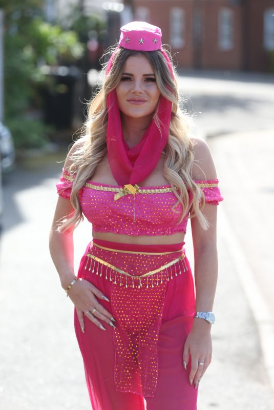 GEORGIA KOUSOULOU on the Set of TOWIE in Brentwood 05/03/2018