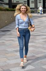 GEORGIA TOFFOLO in Jeans Leaves This Morning Show in London 05/23/2018