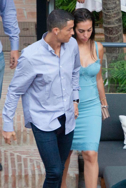 GEORGINA RODRIGUEZ and Cristiano Ronaldo Out in Malaga 05/30/2018