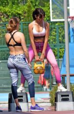 GEORGINA RODRIGUEZ Workout at a Park in Madrid 05/18/2018
