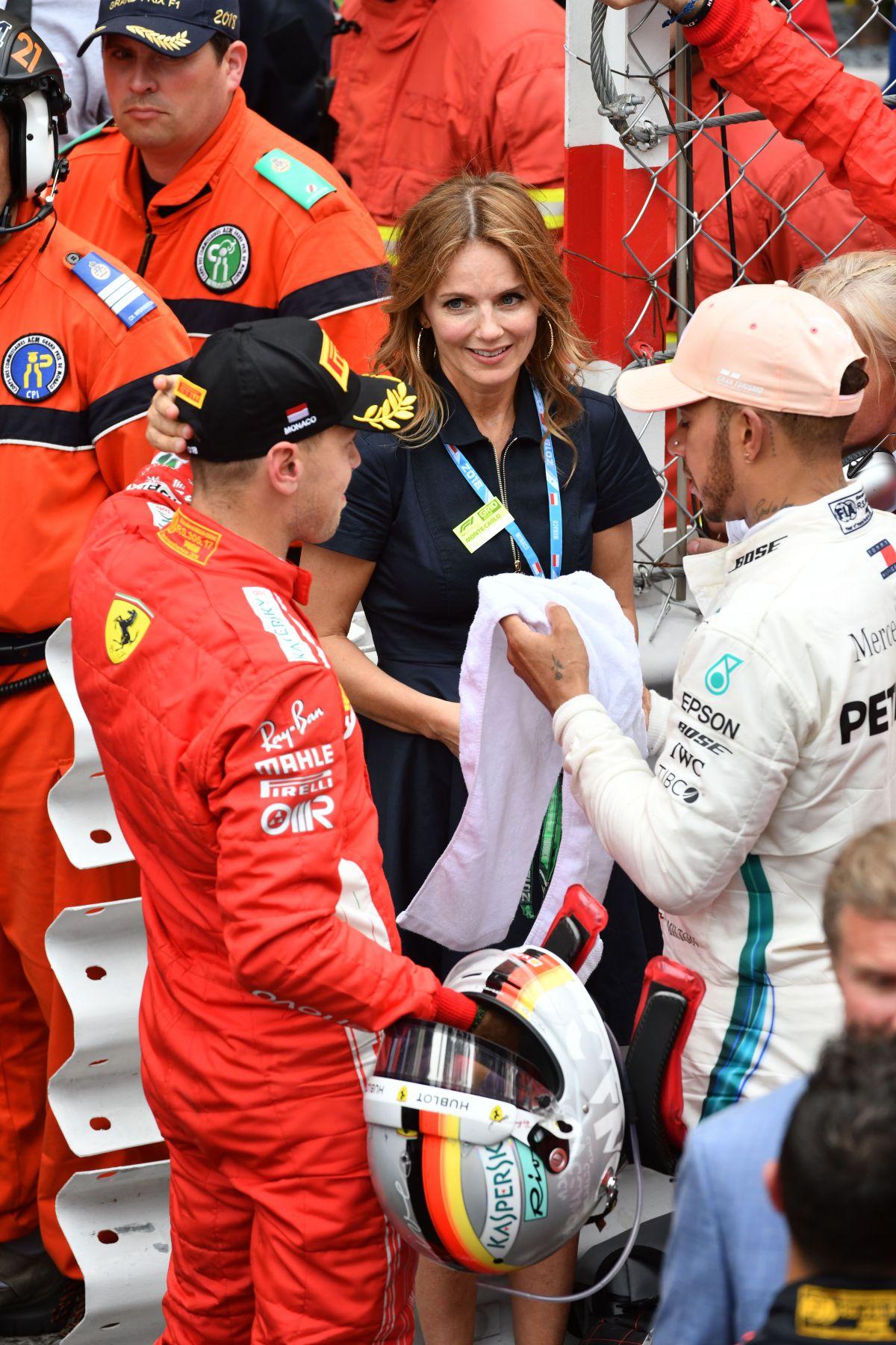 Geri Halliwell, Bernie Ecclestone - F1 Grand Prix of