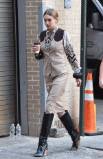 GIGI HADID on the Set of a Photoshoot in New York 05/30/2018