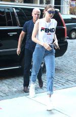 GIGI HADID Out and About in New York 05/30/2018