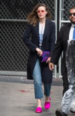 GILLIAN JACOBS Arrives at Jimmy Kimmel Live in Los Angeles 05/18/2018