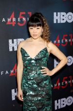 GRACE LYNN KUNG at Fahrenheit 451 Premiere in New York 05/08/2018