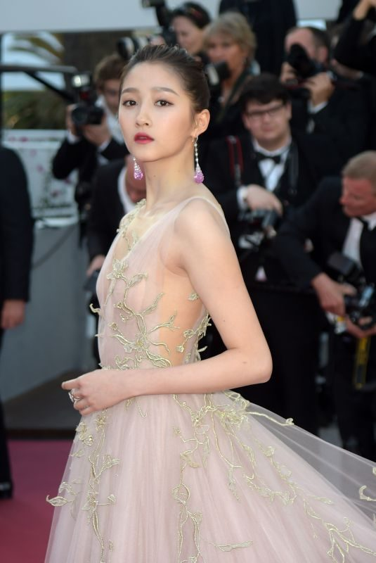 GUAN XIAOTONG at Ash is Purest White Premiere at Cannes Film Festival 05/11/2018