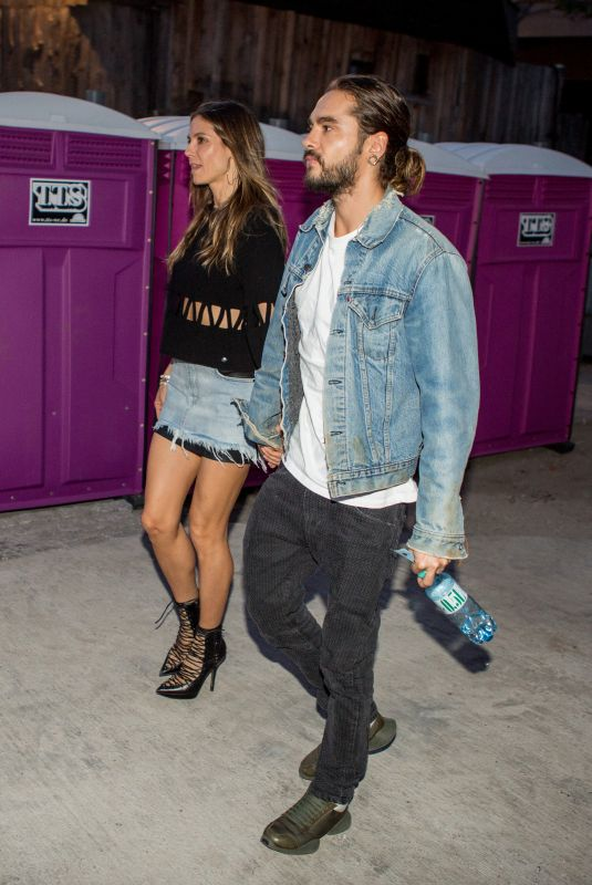 HEIDI KLUM and Tom Kaulitz Out in Berlin 04/29/2018