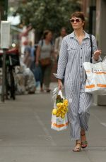 HELENA CHRISTENSEN Out Shopping in New York 05/09/2018