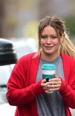 HILARY DUFF Heading to a Gym in Los Angeles 05/12/2018