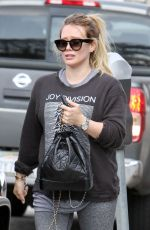 HILARY DUFF Leaves a Gym in Los Angeles 05/26/2018