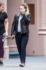HILARY DUFF Leaves a Gym in New York 05/18/2018