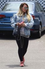 HILARY DUFF Out and About in New York 05/29/2018