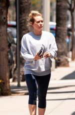 HILARY DUFF Out for a Coffee in Studio City 05/28/2018