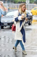 HILARY DUFF Out for Coffee in New York 05/19/2018