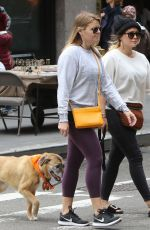 HILARY DUFF Out with Her Dog in New York 05/18/2018