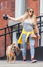 HILARY DUFF Out with Her Dog Lucy in New York 05/06/2018