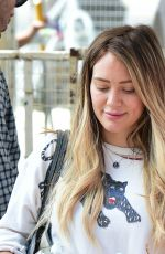 HILARY DUFF Shopping at Farmers Market in Studio City 04/29/2018