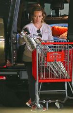 HILARY DUFF Shopping for Beach Toys at Target in Los Angeles 05/29/2018