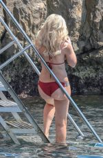 HOFIT GOLAN in Red Bikini at Eden Roc Hotel in Antibes 05/16/2018