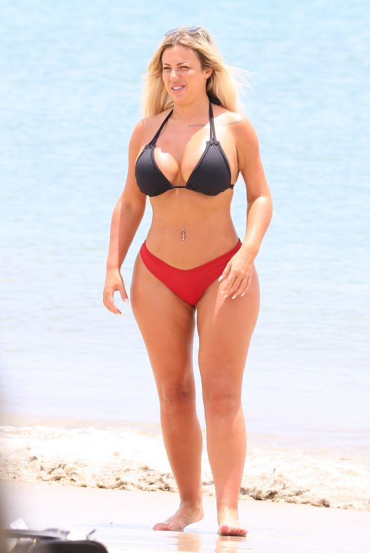 HOLLY HAGAN in Bikini at a Beach in St Lucia 05/16/2018