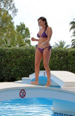 IMOGEN THOMAS in Bikini at a Pool in Marbella 05/13/2018