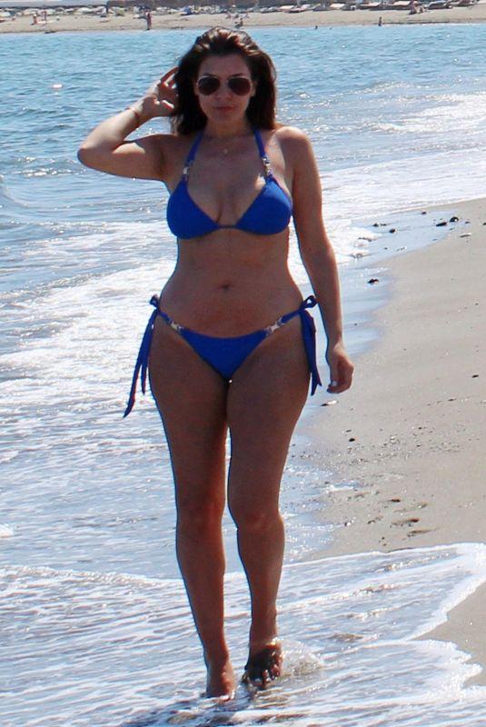IMOGEN THOMAS in Bikini on the Beach in Marbella 05/24/2018