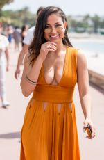 INANNA SARKIS Out at Croisette in Cannes 05/10/2018