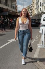 ISKRA LAWRENCE in Jeans Out in Cannes 05/14/2018