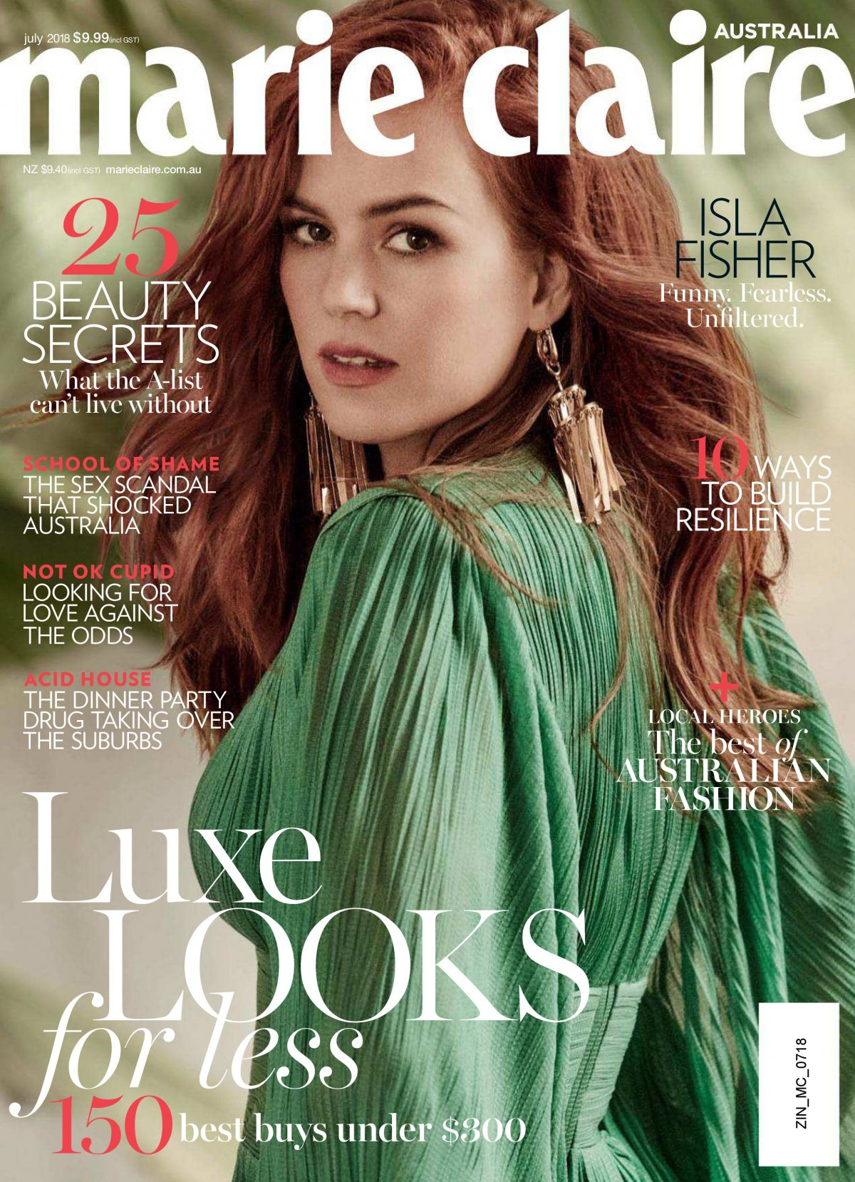 Emma Stone Covers the December Issue of Marie Claire UK