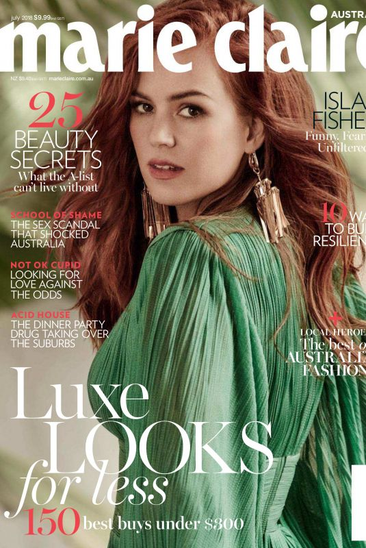 ISLA FISHER for Marie Claire Magazine, July 2018 Issue