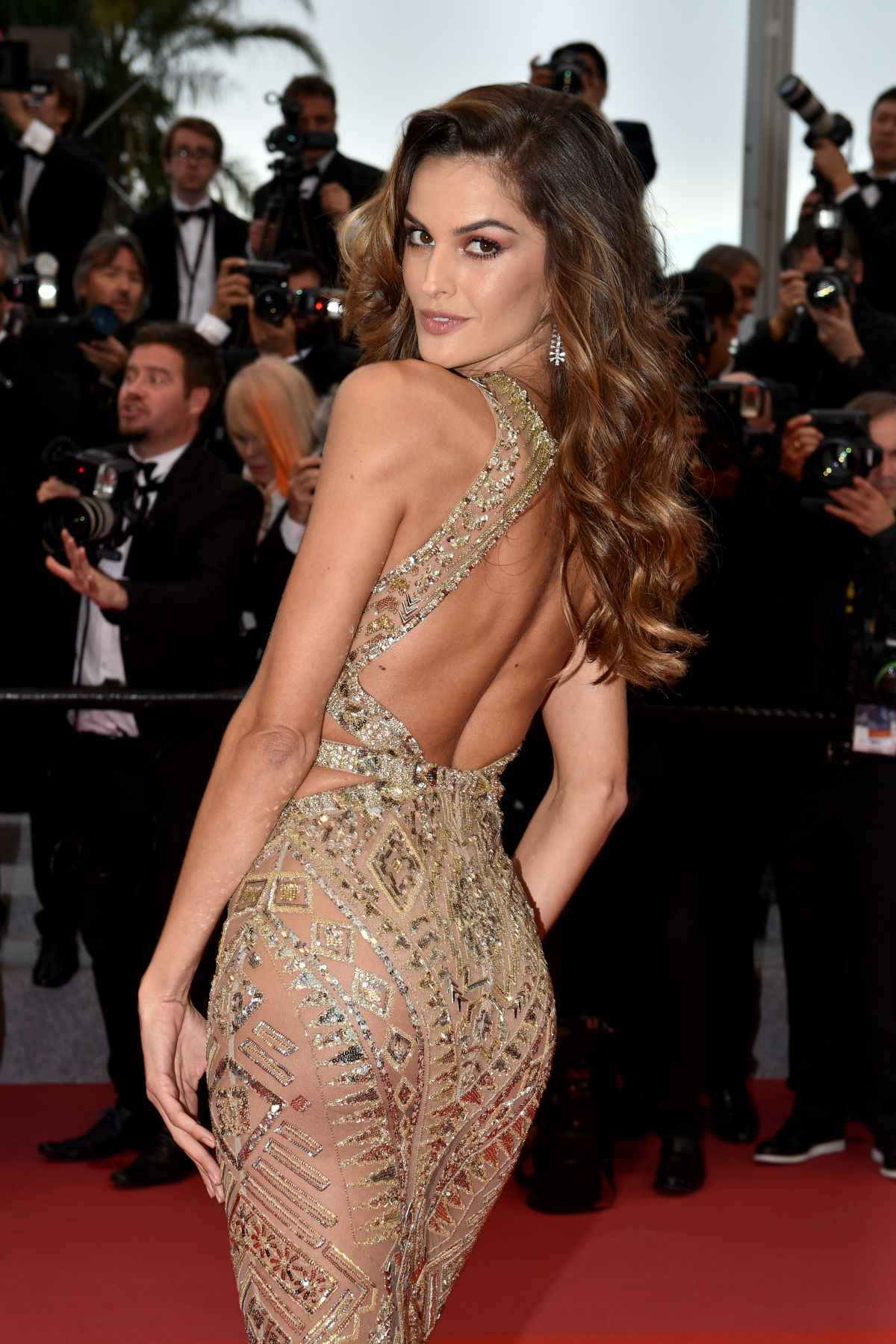 IZABEL GOULART at Burning Premiere at 71st Annual Cannes