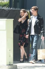 IZABELA VIDOVIC and Hayden Byerly Out Kissing in Los Angeles 05/29/2018