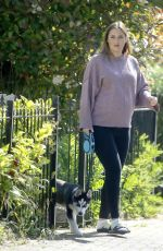 JACQUELINE JOSS Out with Her Dog in London 05/17/2018