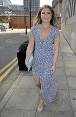 JAZMINE FRANKS Arrives Jennifer Metcalfes Baby Christening in Liverpool 05/20/2018
