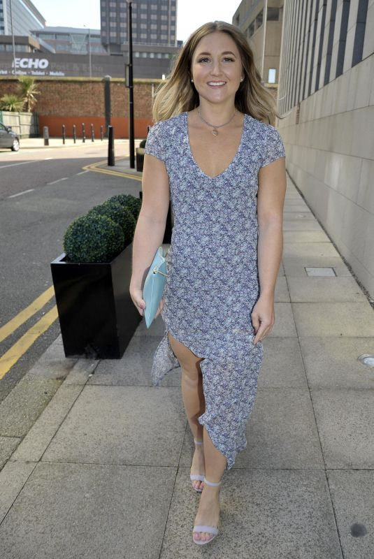 JAZMINE FRANKS Arrives Jennifer Metcalfes Baby Christening in Liverpool 05/20/2018