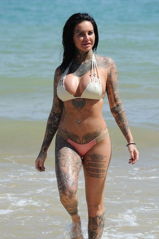 JEMMA LUCY in Bikini at a Beach in Cyprus 05/01/2018