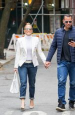 JENNIFER LOPEZ and Alex Rodriguez at Bar Pitti in New York 05/05/2018