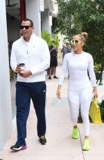 JENNIFER LOPEZ in Tights Heading to a Gym in Miami 05/23/2018