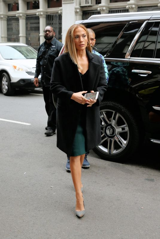 JENNIFER LOPEZ on the Set of Second Act in New York 05/06/2018
